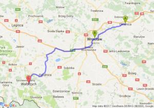 Oleśnica (dolnośląskie - Wrocław (dolnośląskie) - Wałbrzych (dolnośląskie)
