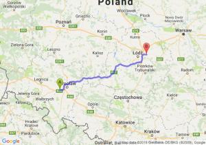 Trasa Kąty Wrocławskie - Brzeziny