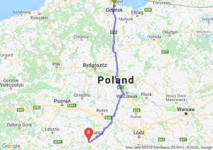 Trasa Gdańsk - Ostrów Wielkopolski