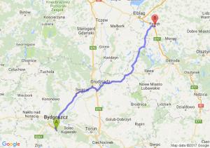 Trasa Brzoza (koło Bydgoszczy) - Pasłęk