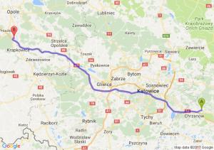 Trzebinia (małopolskie) - Dąbrówka Górna (opolskie)