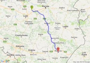 Trasa Łowicz - Rzeszów