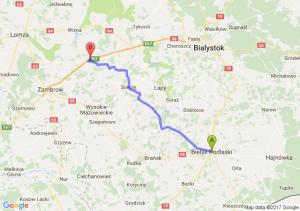 Trasa Bielsk Podlaski - Mężenin