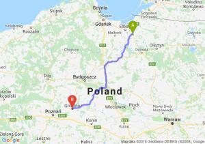Trasa Pasłęk - Gniezno