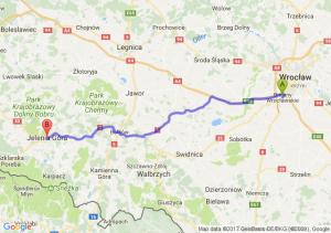 Bielany Wrocławskie (dolnośląskie) - Jelenia Góra (dolnośląskie)
