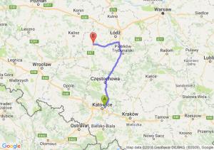 Trasa Sosnowiec - Sieradz