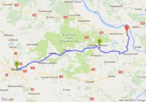 Radom (mazowieckie) - Garbatka-letnisko (mazowieckie) - Zajezierze (mazowieckie)