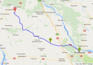 Włocławek (kujawsko-pomorskie) - Bądkowo (kujawsko-pomorskie) - Gniewkowo (kujawsko-pomorskie)
