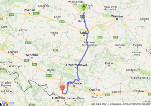 Gostynin (mazowieckie) - Radlin (śląskie)