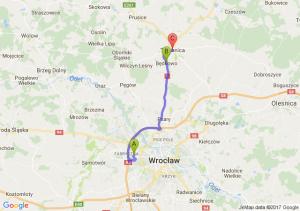Zemska Wrocław - Będkowo (dolnośląskie) - Trzebnica (dolnośląskie)
