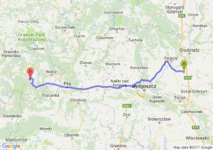 Lisewo (kujawsko-pomorskie) - Tuczno (zachodniopomorskie)