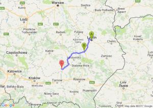 Lublin (lubelskie) - Krasnik - Grabowa Swietokrzyskie
