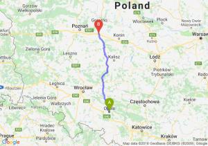 Trasa Opole - Września