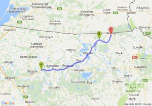 Barczewo (warmińsko-mazurskie) - Banie Mazurskie (warmińsko-mazurskie) - Gołdap