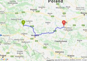 Trasa Głogów - Pabianice