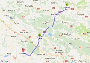 Praszka (opolskie) - Opole (opolskie) - Korfantów (opolskie)