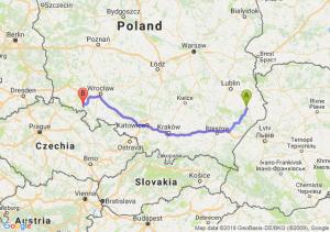 Trasa Zamość - Wałbrzych