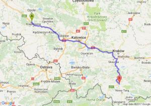 Trasa Dąbrówka Górna - Rabka-Zdrój
