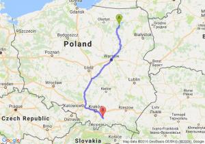 Ruciane-Nida (warmińsko-mazurskie) - Limanowa (małopolskie)