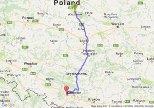 Trasa Włocławek - Gliwice