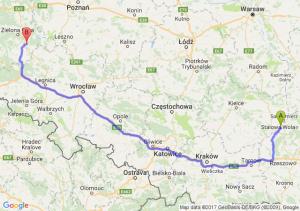 Trasa Tarnobrzeg - Nowa Sól
