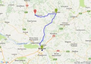 Warszawa - Ostrołęka - Czernice Borowe (mazowieckie)