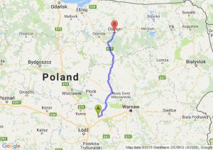 Trasa Łowicz - Olsztyn