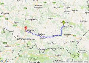 Trasa Tarnobrzeg - Gliwice