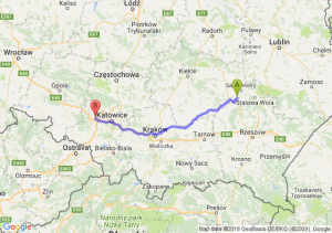 Tarnobrzeg - Gliwice