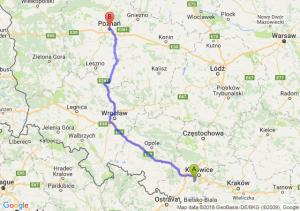 Trasa Mikołów - Poznań