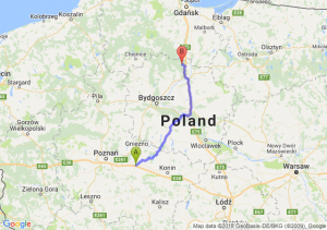 Trasa Września - Warlubie