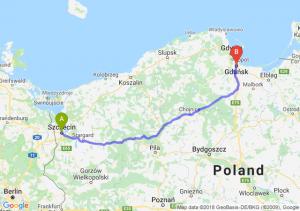 Trasa Szczecin - Gdańsk