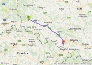 Trasa Bolesławiec - Racibórz