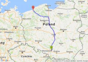 Trasa Sosnowiec - Koszalin