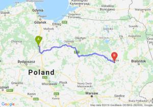 Trasa Warlubie - Łomża