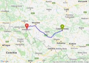 Trasa Częstochowa - Świebodzice
