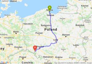 Trasa Gdynia - Wałbrzych
