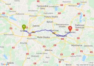 Trasa Gliwice - Sosnowiec