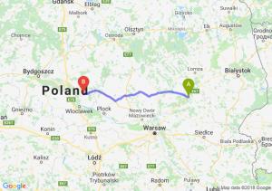 Trasa Ostrów Mazowiecka - Lipno