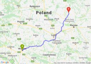 Trasa Wrocław - Ciechanów