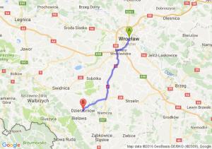 Wrocław - Dzierżoniów (dolnośląskie)
