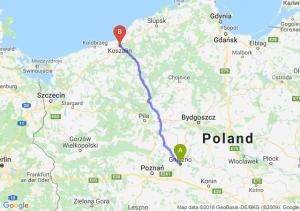 Trasa Gniezno - Koszalin