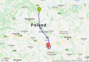 Trasa Grudziądz - Łódź