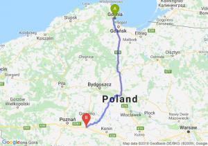 Trasa Gdynia - Września