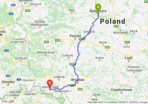 Trasa Bydgoszcz - Jelenia Góra