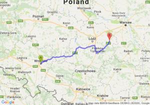 Trasa Wrocław - Rawa Mazowiecka