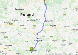 Trasa Częstochowa - Olsztynek