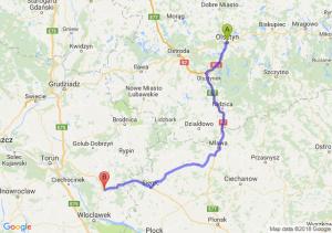 Trasa Olsztyn - Lipno