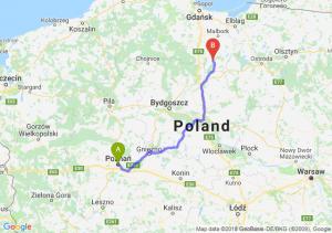 Trasa Poznań - Kwidzyn