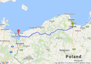 Pruszcz Gdański (pomorskie) - Międzyzdroje (zachodniopomorskie)